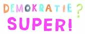 Logo zur Buchausstellung Demokratie und Kinderrechte