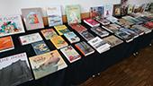 """Bild Bücher der Kinder- und Jugendbuchausstellung """"Gehen müssen"""""""