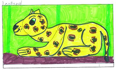 Bild Warten mit Giraffe – Anabella und der Leopard