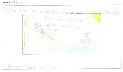 Bild Mihaylo schreibt seiner Oma