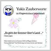 """Bild zur CD Zauberworte Nr. 3: """"Es geht der Sommer übers Land"""" für die Bewohnerinnen und Bewohner des Pflegewohnhauses Leopoldstadt."""