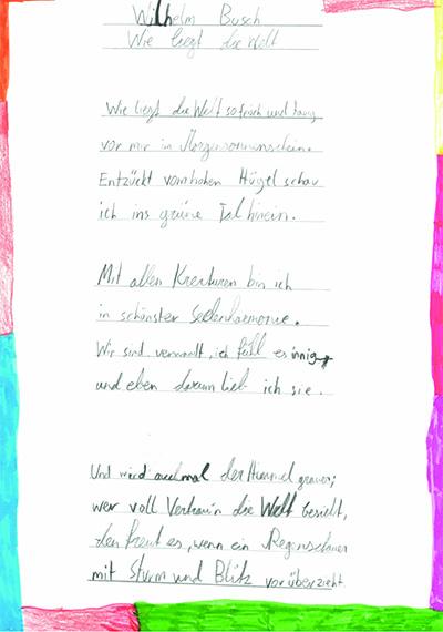 """Bild Wilhelm Busch """"Wie liegt die Welt"""""""